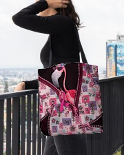 Flamingo - Breast Cancer Zip Tote All-over Tote aos-all-over-tote-lifestyle-front-05