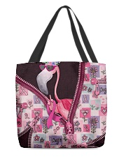 Flamingo - Breast Cancer Zip Tote All-over Tote back