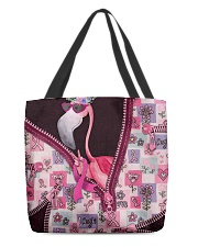 Flamingo - Breast Cancer Zip Tote All-over Tote front