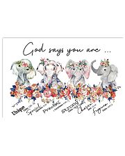 Elephant - God Says You Are 17x11 Poster front