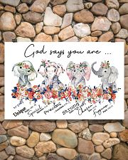 Elephant - God Says You Are 17x11 Poster poster-landscape-17x11-lifestyle-15