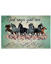 Horse God Says You Are 17x11 Poster front