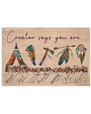 Native Creator says you are 17x11 Poster front