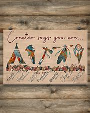 Native Creator says you are 17x11 Poster poster-landscape-17x11-lifestyle-14