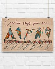 Native Creator says you are 17x11 Poster poster-landscape-17x11-lifestyle-17