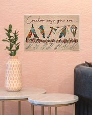 Native Creator says you are 17x11 Poster poster-landscape-17x11-lifestyle-21