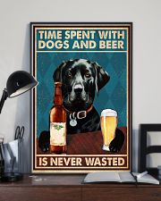 Labrador Beer Never Wasted 11x17 Poster lifestyle-poster-2