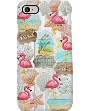 Flamingo - Sand Beach Relax Phone Case i-phone-8-case