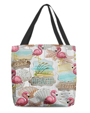 Flamingo - Sand Beach Relax All-Over Tote tile