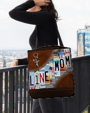 Lineman Mom Leather Effect Printing  All-over Tote aos-all-over-tote-lifestyle-front-05