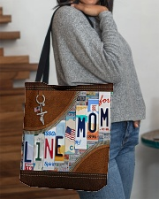Lineman Mom Leather Effect Printing  All-over Tote aos-all-over-tote-lifestyle-front-09