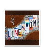 Lineman Mom Leather Effect Printing  Sticker tile