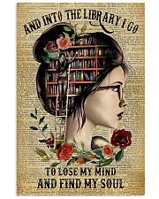 and into the library i go 11x17 Poster front