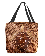 Turtle Feather All-Over Tote tile