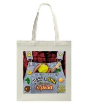 Softball Jean Tote Bag tile