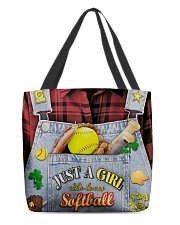 Softball Jean All-over Tote front