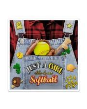 Softball Jean Sticker tile