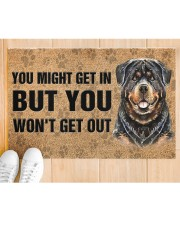 """Rottweiler You Might Get In But You Won'T Get Out  Doormat 22.5"""" x 15""""  aos-doormat-22-5x15-lifestyle-front-03"""