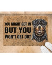 """Rottweiler You Might Get In But You Won'T Get Out  Doormat 22.5"""" x 15""""  aos-doormat-22-5x15-lifestyle-front-05"""