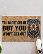 """Rottweiler You Might Get In But You Won'T Get Out  Doormat 22.5"""" x 15""""  aos-doormat-22-5x15-lifestyle-front-06"""