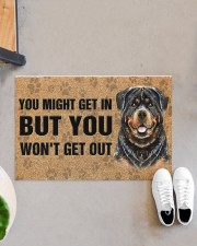 """Rottweiler You Might Get In But You Won'T Get Out  Doormat 22.5"""" x 15""""  aos-doormat-22-5x15-lifestyle-front-07"""