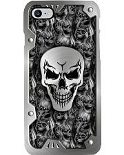 Smoky Skull Metal Pattern Print Phone Case i-phone-8-case