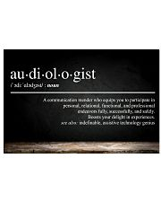 Audiologist Definition  17x11 Poster front