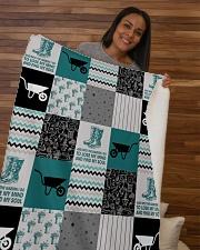 """Into The Garden  Sherpa Fleece Blanket - 50"""" x 60"""" aos-sherpa-fleece-blanket-50x60-lifestyle-front-09b"""