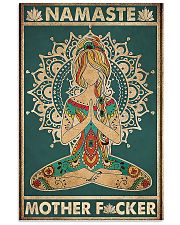 Namaste Mother Facker- Yoga Vertical Poster  11x17 Poster front