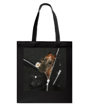 Horse Black Leather Tote Bag tile