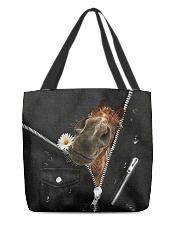 Horse Black Leather All-over Tote front