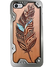 Wooden Feather Metal Pattern Print Phone Case i-phone-8-case