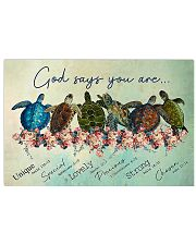 Turtle God Say You 17x11 Poster front