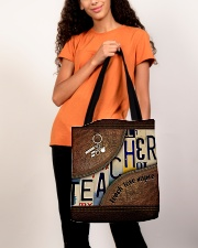 Teacher leather pattern print All-over Tote aos-all-over-tote-lifestyle-front-06