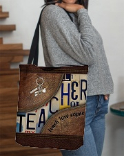 Teacher leather pattern print All-over Tote aos-all-over-tote-lifestyle-front-09