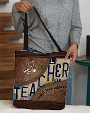 Teacher leather pattern print All-over Tote aos-all-over-tote-lifestyle-front-10