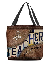 Teacher leather pattern print All-over Tote front