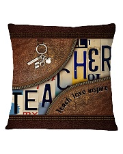 Teacher leather pattern print Square Pillowcase tile