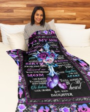 """To My Mom Large Fleece Blanket - 60"""" x 80"""" aos-coral-fleece-blanket-60x80-lifestyle-front-05a"""