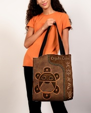 Taino Leather Pattern Print All-over Tote aos-all-over-tote-lifestyle-front-06