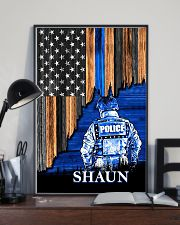 Back The Blue Flag 11x17 Poster lifestyle-poster-2