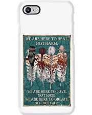 Native American We Are Here To Heal Phone Case tile