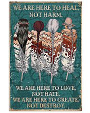 Native American We Are Here To Heal 11x17 Poster front