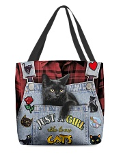 Black Cat Jean All-over Tote front