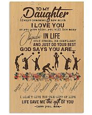 To My Daughter God Says You Are  11x17 Poster front