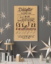 To My Daughter God Says You Are  11x17 Poster lifestyle-holiday-poster-1