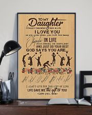 To My Daughter God Says You Are  11x17 Poster lifestyle-poster-2