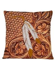 Native American India Feather 2 Square Pillowcase tile