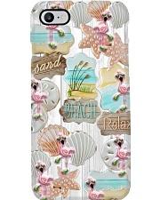 Cool Flamingo - Sand Beach Relax Phone Case i-phone-8-case