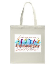 Volleyball God Says Tote Bag tile